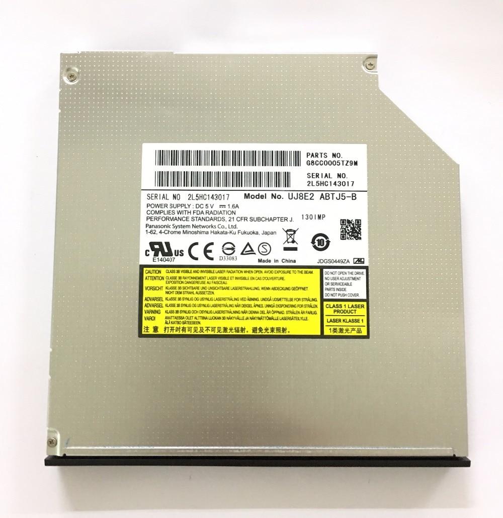 for Panasonic UJ8E2 Dual Layer 8X DVD RW RAM DL Burner 24X CD-R Writer Super Multi Laptop Internal 9.5mm SATA Tray Optical Drive