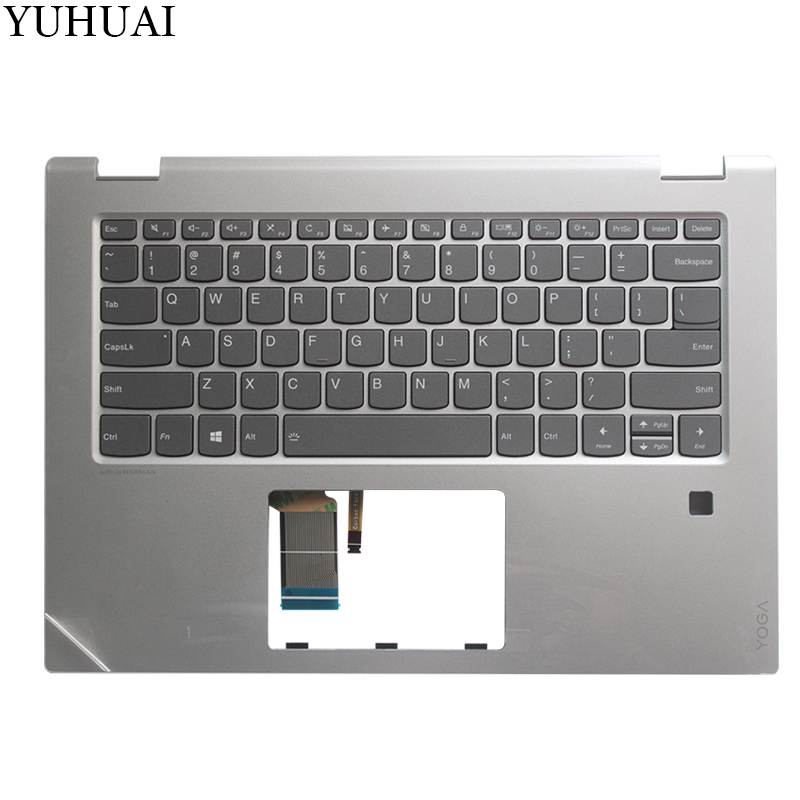 NEW US laptop keyboard FOR LENOVO YOGA 520-14 520-14IKB US laptop keyboard with silver palmrest new us keyboard for acer aspire vn7 793g vx5 591g vx5 591g 52wn us laptop keyboard with backlit