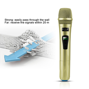Image 2 - Wireless Mikrofon Professionelle Handheld 2 Kanäle Studio Dual VHF Dynamische Mic Für Karaoke System Computer KTV XINGMA AK 100