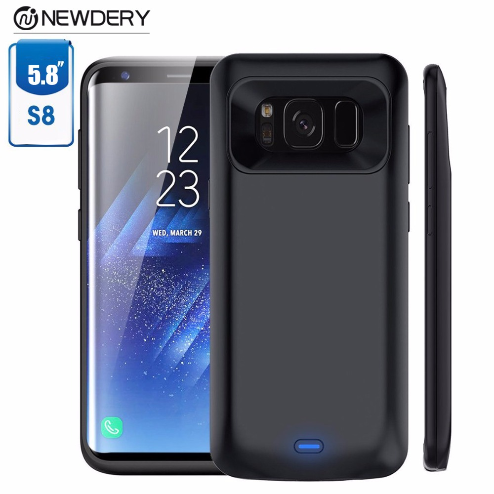 Power Bank Battery Charging Case for samsung S8 black TPU Material full cover charger for samsung galaxy s8 5000mAh