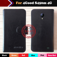 цена Hot!! In Stock 4Good S450m 4G Case 6 Colors Ultra-thin Dedicated Leather Exclusive For 4Good S450m 4G Phone Cover+Tracking