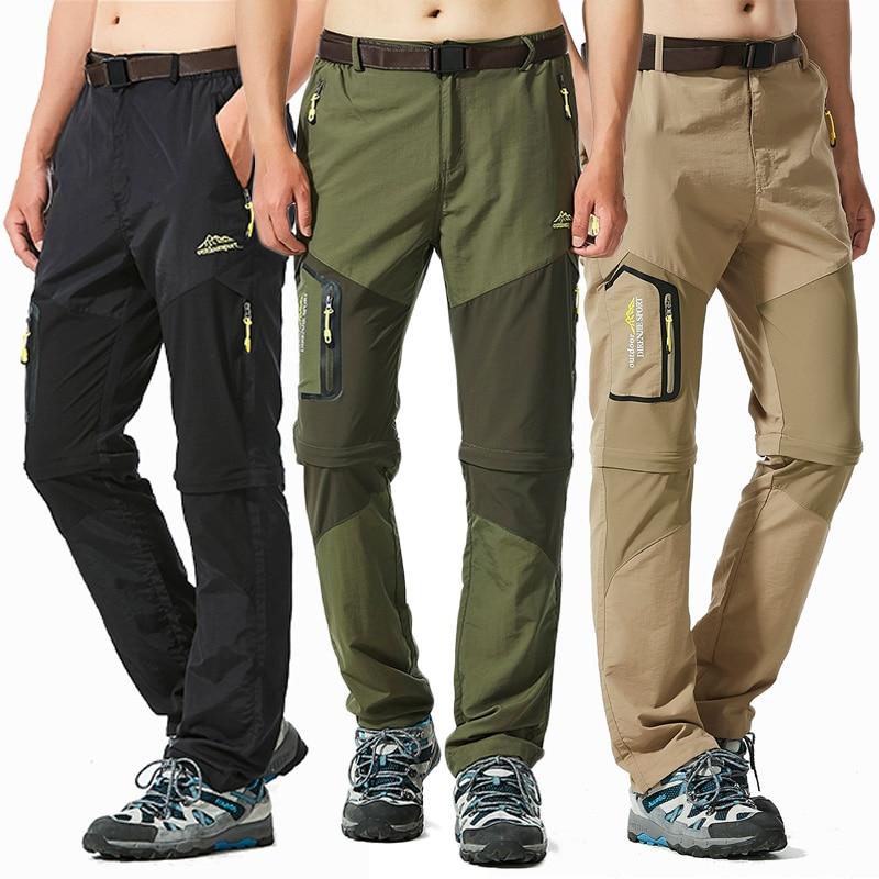 ACHICOO Uomini e Donne Staccabili Asciugatura Rapida Pantaloni da Escursionismo Pantaloni Sportivi per Outdoor Campeggio Trekking Prodotto Outdoor