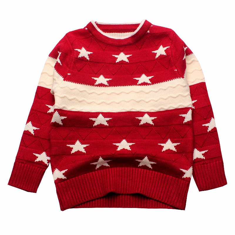 Star Kids Sweaters Cotton Infant Clothes Pullover Print Outfit O Neck Knit Top Autumn Winter Baby Boys Sweater Children Clothing (2)