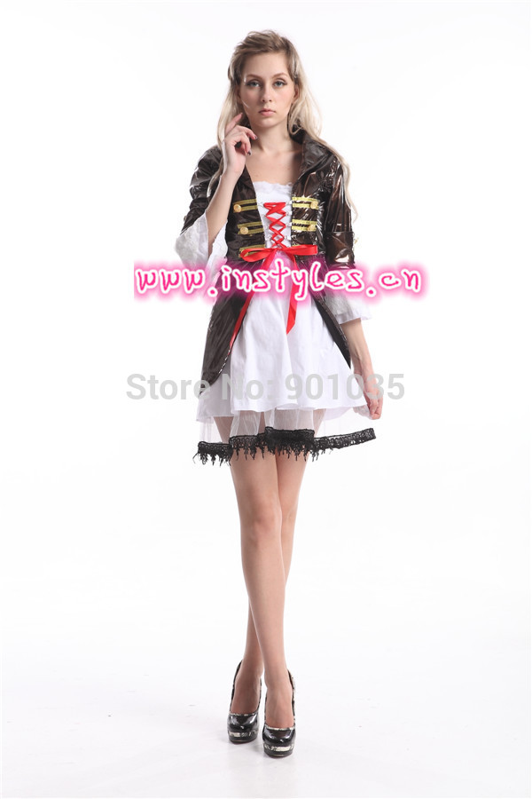 free shipping pirate ladies fancy dress costume pirates themed party outfit halloween costume for women - Popular Halloween Themes