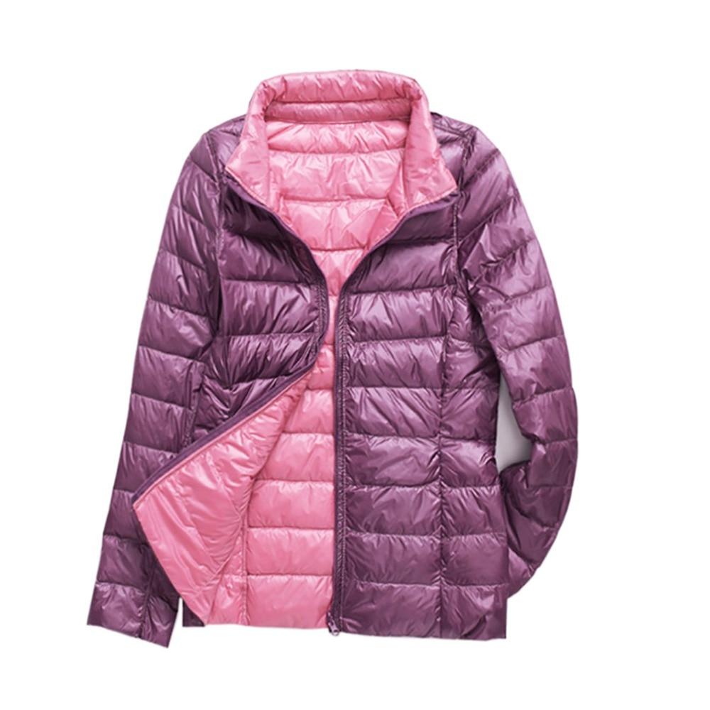 Nouveau hiver bas vestes femmes canard vers le bas manteaux Slim chaud Parkas dames décontracté manteau Ultra léger automne survêtement Double face Parka