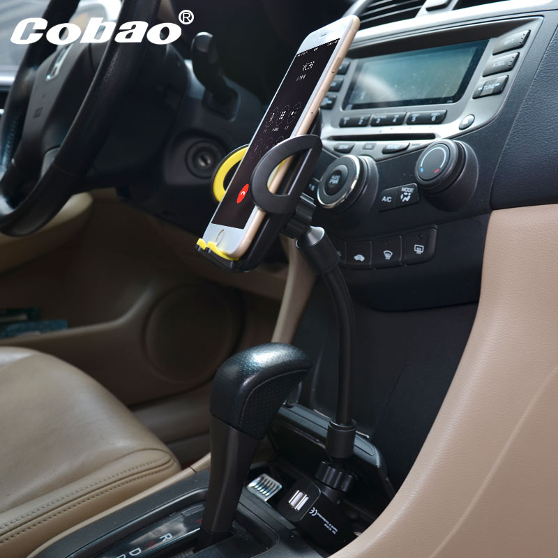 cobao Double usb car phone holder cigarette lighter port to use Bracket Stands for iPhone 5