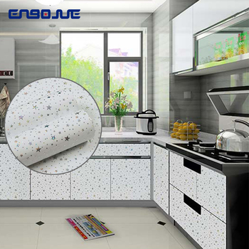 цена на PVC Waterproof Self Adhesive Stars Pattern Wallpaper TV Background Decorative Sticker Cupboard Garderobe Furniture Wall Stickers