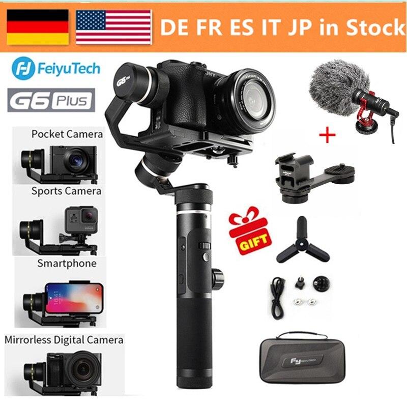 FeiyuTech Feiyu G6 Plus 3 Axis Handheld Gimbal Stabilizer voor Mirrorless Camera Pocket Camera GoPro Smartphone