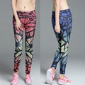 Gradient Printing Pants Quick Dry Fitness Fitness Compression Tightening Fitness Clothing Slim Sexy