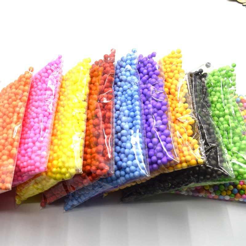 חם אופנה דקורטיבי Ranbow מגוון צבע פוליסטירן קלקר מילוי קצף מיני חרוזים כדורי DIY קישוט על 1000 כדורי