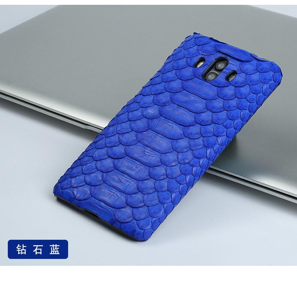 pele python real couro caso do telefone