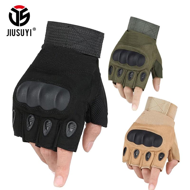 Taktische Finger Handschuhe Military Armee Schießen Paintball Airsoft Fahrrad Motocross Kampf Harte Knuckle Half Finger Handschuhe