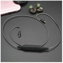 Cable bluetooth deporte auricular con micrófono para shure se215 315 535 846 ue900 diy reparación de reemplazo auriculares cable de audio