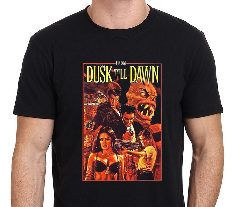 Rude T Shirts New Style From The Dusk Till Dawn Vintage Horror Vampire Movie Crew Neck Short Sleeve Mens Tee Shirt in T Shirts from Men 39 s Clothing