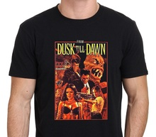 Rude T Shirts New Style From The Dusk Till Dawn Vintage Horror Vampire Movie Crew Neck Short Sleeve Mens Tee Shirt