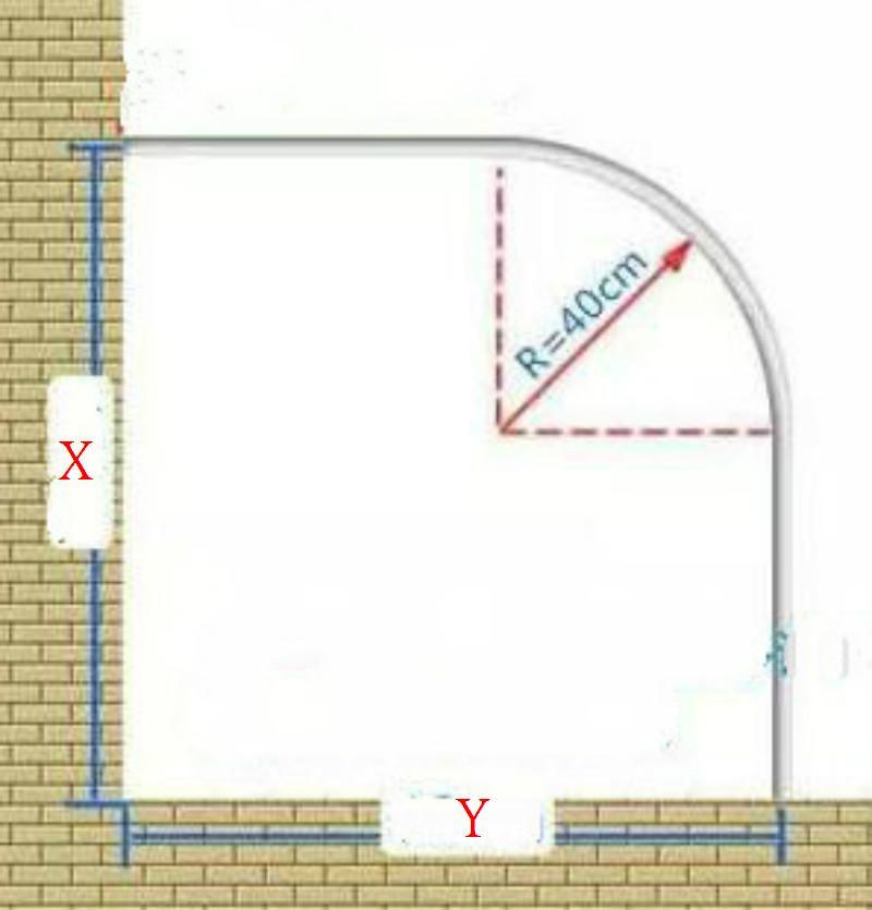 Aliexpress.com : Buy STAINLESS STEEL Bathroom Shower Curtain Rails ...