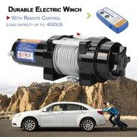 Прочная электрическая лебедка нагрузка до 4000lb с пультом дистанционного управления авто Off road для Atv двигателей подъемная лебедка