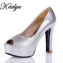 Big size 30-50 Fashion women shoes sexy Ultra high with 12 cm solid PU Peep Toe high heels Customize small size 30 31 32 33 822
