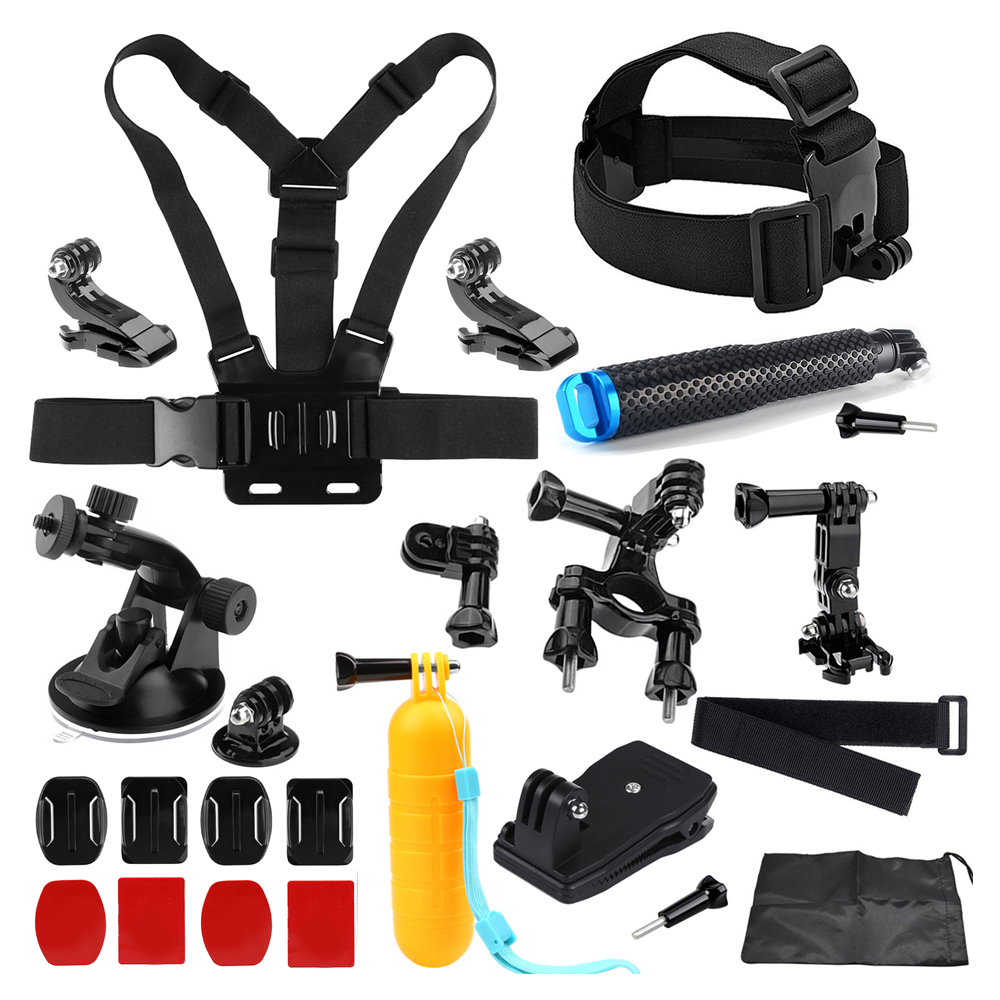 SHOOT Action Camera Accessories for GoPro Hero 6 5 7 4 Xiaomi Yi 4K Sjcam Sj7 Eken h9 Go Pro Mount Grip Harness Chest Head Strap gopro hero 5 accessories set helmet harness chest belt head mount strap monopod go pro hero 4 3 session 3 xiaomi yi black y20
