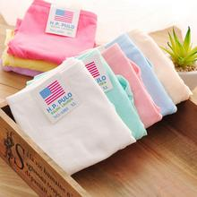 100% cotton comfortable Young girl panties candy color panties women's briefs