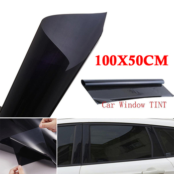 VLT 20% Tint Film Anti UV Heat Protector Sticker Roll Dark Uncut Sunshade Black image