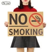 Cravate LER affiche Vintage Promotion pas de fumer autocollants d'affiche commune comme suit affiches d'autocollants muraux
