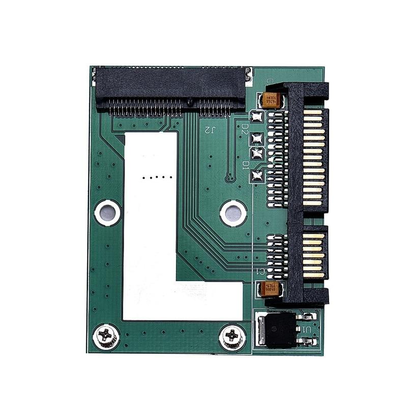Advanced adapter mSATA SSD To 2.5Inch SATA 6.0 Gps Adapter Converter Card  2017 drop shipping 1pc ssd msata to b key m 2 ngff sata adapter converter adapter card board for laptop desktop