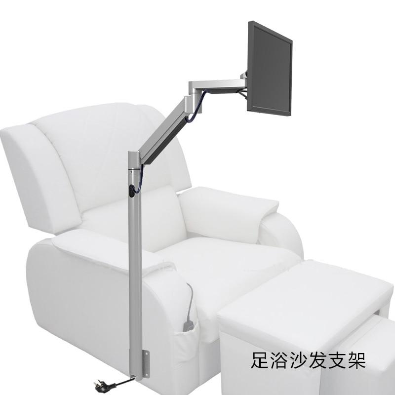 Customized Floor Mount Monitor Holder Floor Stand TV Mount For Foot Massage Chair Entertainment Room  suporte de celular para parabrisa