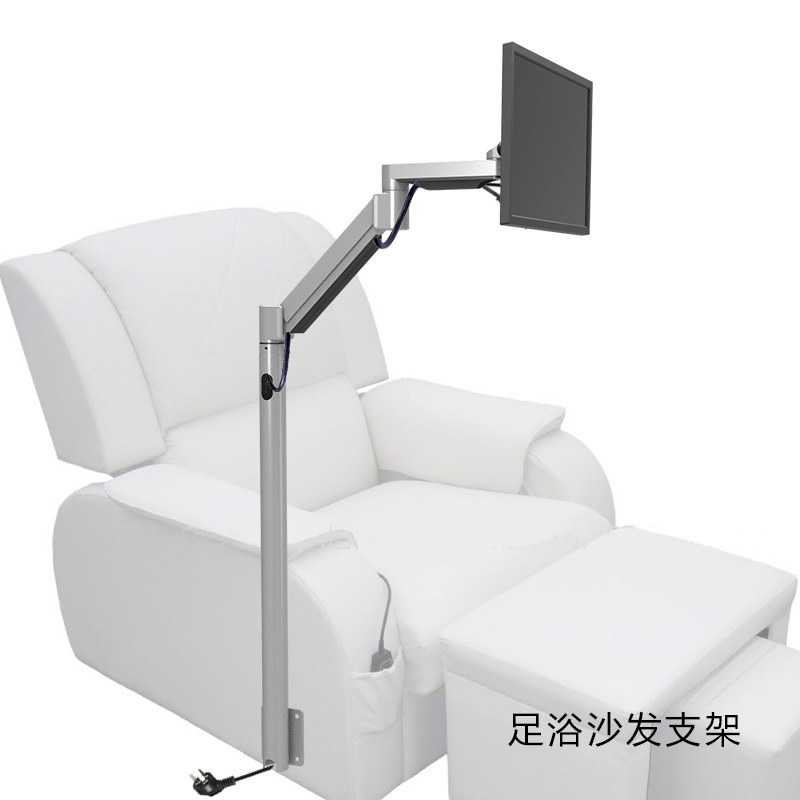 Detail Feedback Questions About Ld218 Customized Gas Spring Arm Monitor Holder Floor Stand Sofa Bedside Fixed Tv Mount For Foot Mage Chair Entertainment