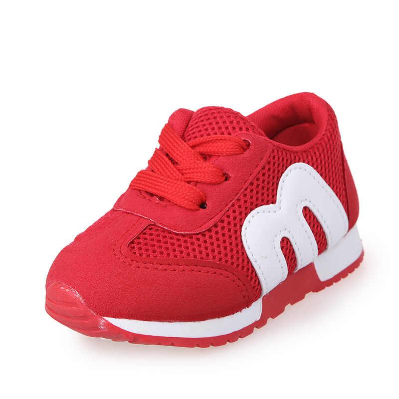 Nieuwe Kinderen kids Schoenen Meisjes Jongens Sport Antislip Zachte Bodem Kids Fashion Sneaker causual platte sneakers Mesh instappers schoenen