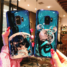 YHBBCASES Blu-ray Case For Samsung Galaxy S8 S9 S10 Plus Cases Cartoon Rabbit Ear Planet Moon Soft Cover Note 10 8 9
