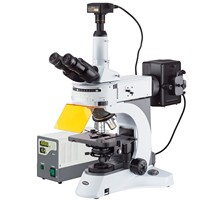 AmScope 40X 1000X Upright Fluorescence Microscope with Rotating Multi filter Turret + 16MP Camera