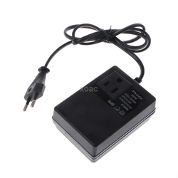200W AC 220V to 110V Step Down Transformer Convert Travel Power EU Plug Adapter   M13 dropship