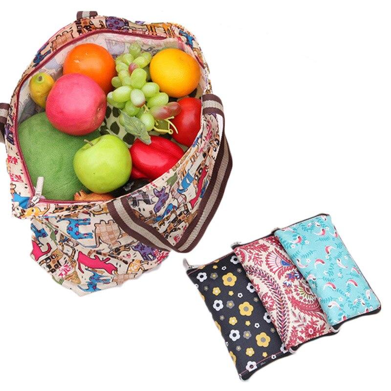 Frauen Handtaschen Große Kapazität Faltbare Einkaufstasche Reise Tote Reusable Einkaufstasche Faltbare Lebensmittel Taschen