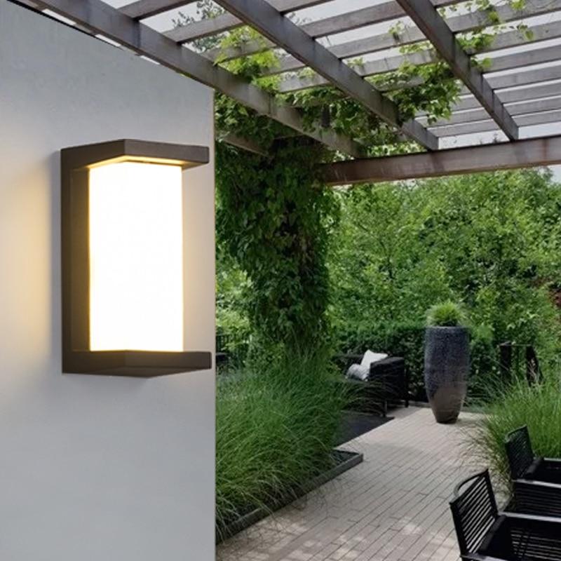 Exterior Wall Lamp Corridor Outdoor led Lamp Balcony Outdoor Waterproof led Lighting Modern Door Headlight Garden Light Outside цена 2017