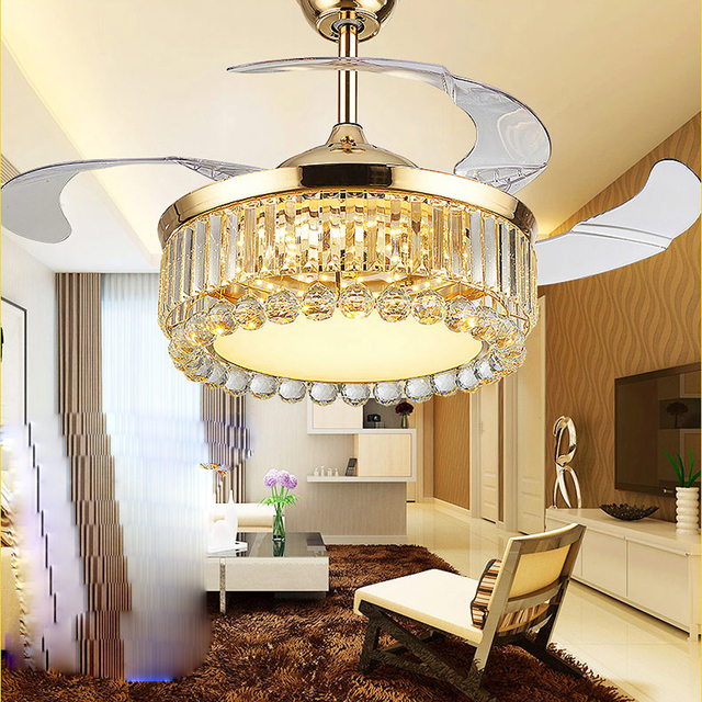 LED Modern Crystal Acrylic Ceiling Fan LED Lamp.LED Light.Ceiling Lights.LED Ceiling Light.Ceiling Lamp For Foyer Bedroom
