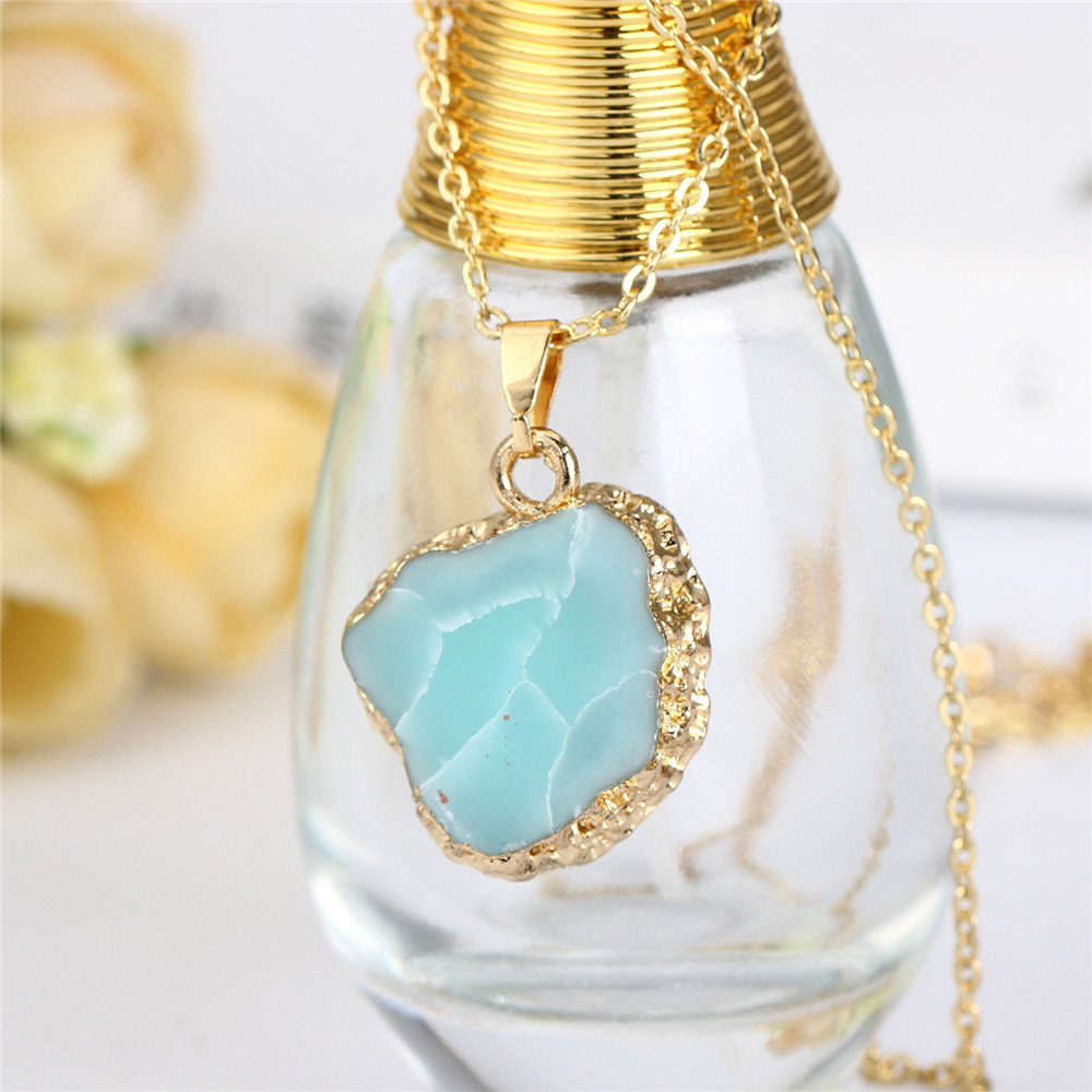 short raw quartz stone neckl product barzel ruth clear jewelry qu design with necklace