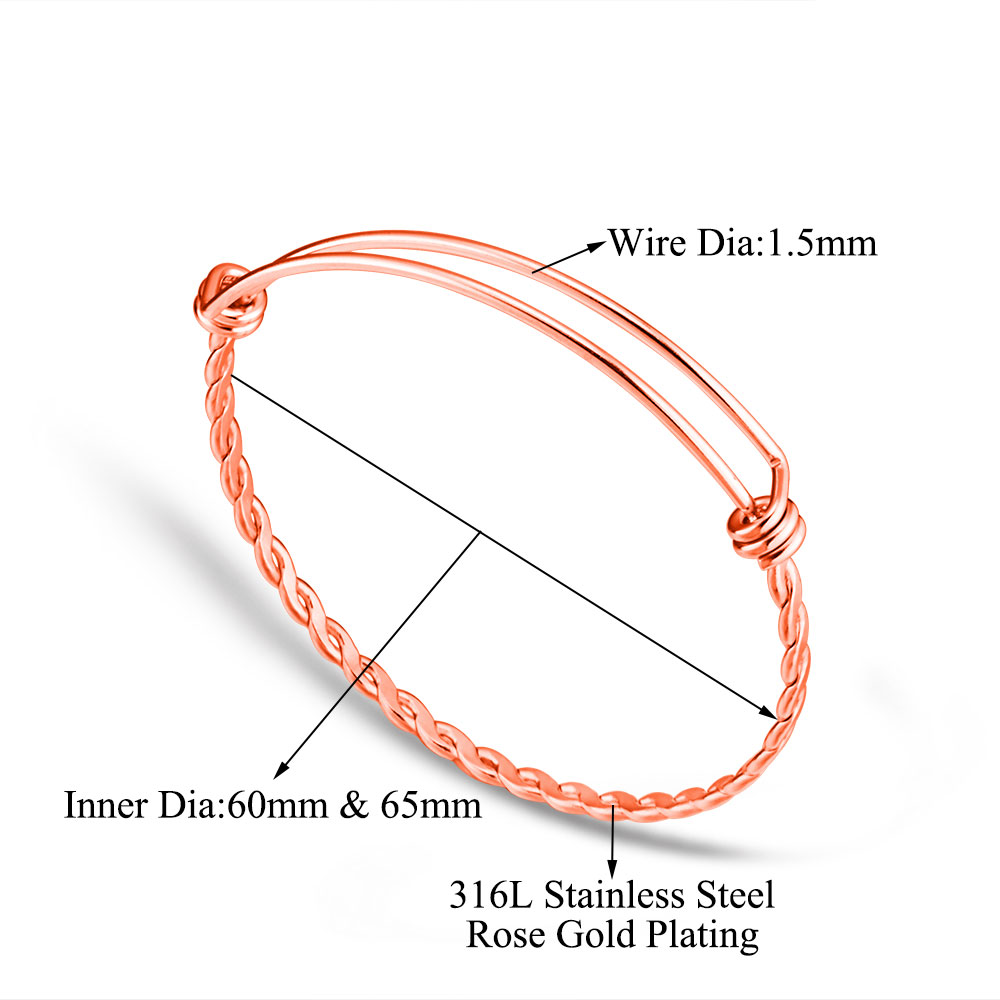 Buy 10pcs Lot Grace Moments 3 Colors Twist Bangles Stainless Steel Wire Diagram Bracelets 316l Adjustable Cuff Bracelet Making Diy Jewelry From