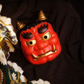 New Arrival Red PVC Full Face Janpense Noh Tengu Hannya Mask Masquerade for Adult Halloween Party