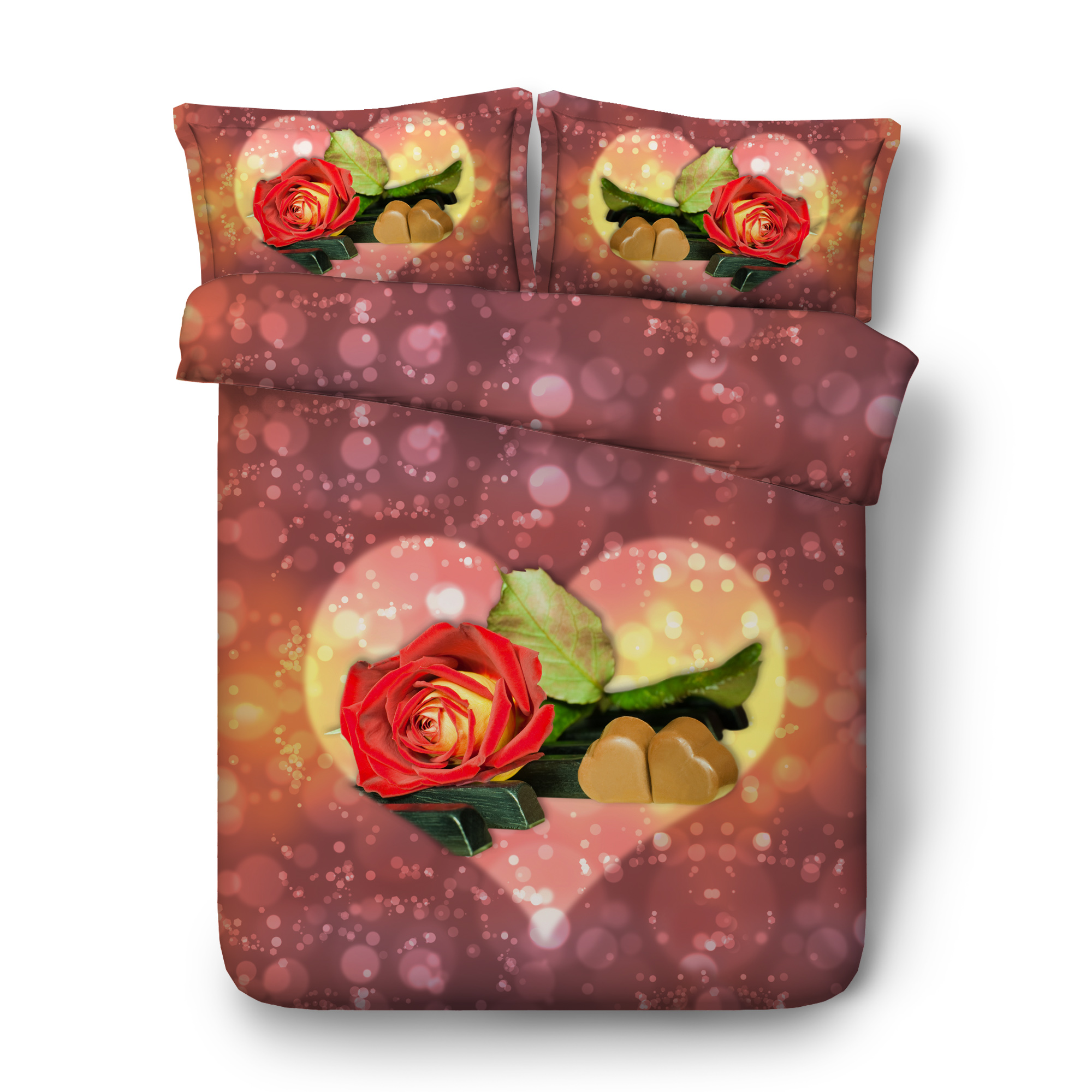 Love roses Digital print Bedding Set  Quilt Cover  Design Bed Set Bohemian a Mini Van Bedclothes 3pcs Large size 260*225cm JF544Love roses Digital print Bedding Set  Quilt Cover  Design Bed Set Bohemian a Mini Van Bedclothes 3pcs Large size 260*225cm JF544