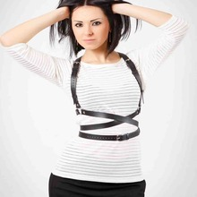 HARNESS New Basic Style Women Men Handmade Underbust Waist Belt Y Leather Harness Body Bondage Cage Straps