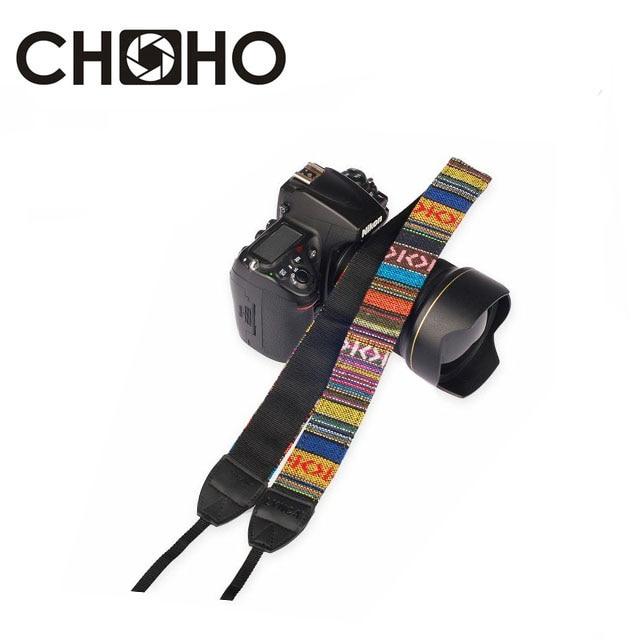 Camera Neck Strap Universal Adjustable Cotton Leather Shoulder Belt Weave Holder Bohemia For Canon Sony Nikon DSLR Accessories