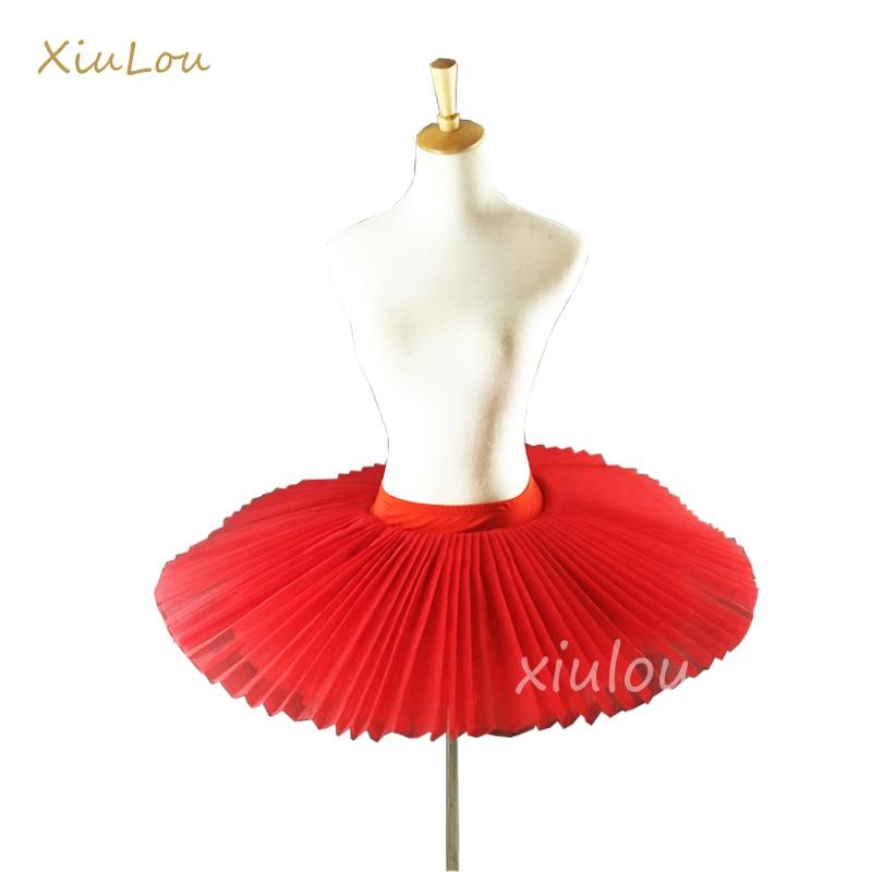 2018 Professional Ballet Tutus Adult Stiff Pancake Half Ballet Tutu black Practice Tutu Skirts Kids White Platter Tutu Base gir(China)