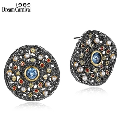 DreamCarnival 1989 New Fantastic Stud Earrings for Women Many Tiny Created Pearls Zircon Matching Jewelries Available WE3783