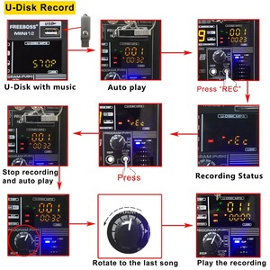 Image 3 - Freeboss MINI12 bluetooth記録 12 チャンネル (モノラル) 99 dspエフェクトusbの再生と録音機能プロフェッショナルオーディオミキサー