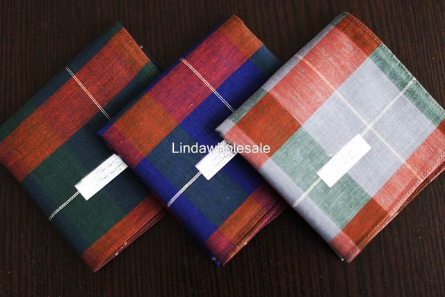 Japanese Men's striped handkerchief,Cotton thin business handkerchief,best gift for men