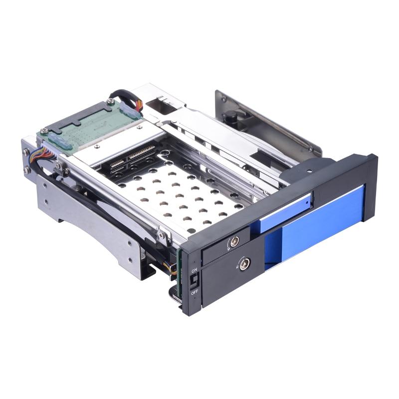 5.25in caddy station d'accueil hdd 3.5 SATA boîtier 2 to disque dur 2.5 disque dur support de rack mobile échange à chaud avec lumière LED