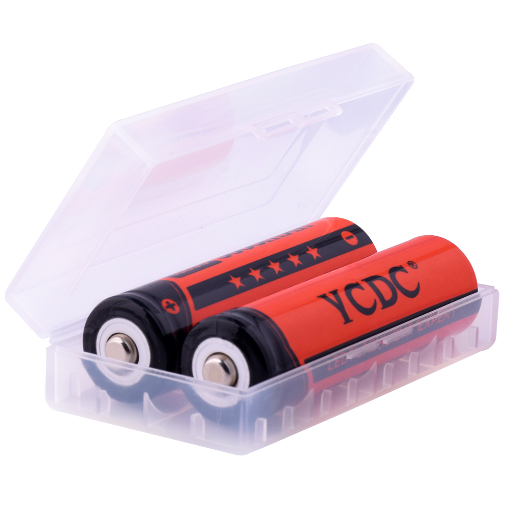 YCDC With Case Original 18650 NCR18650B Rechargeable Li ion battery 3 7V 3000mAh For Panasonic Flashlight