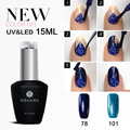 MSHARE 15ML LED UV Nail Gel Polish Long Lasting Gel Lacquer DIY Nail Art Colorful Gel Nail Manicure 120 Colors for Choose