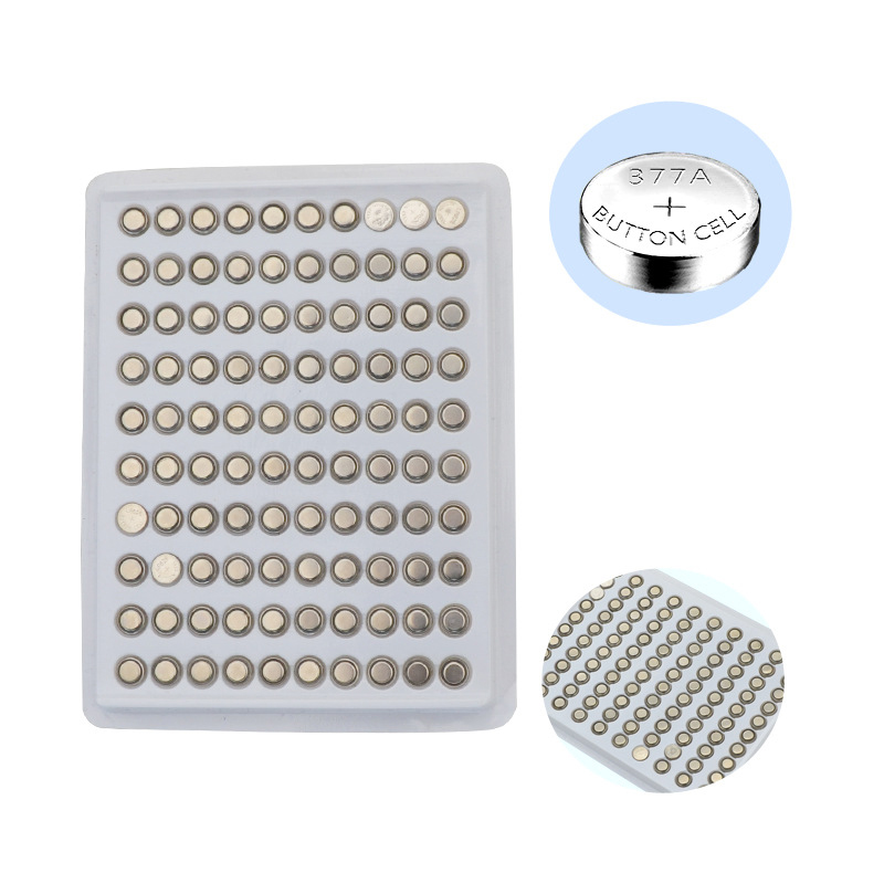 SRISAN 100pcs pack AG4 Button Cell Batteries 1 55V LR626 LR66 377 SR626SW 177 Cell Watch Toys Remote Camera Wholesales in Button Cell Batteries from Consumer Electronics